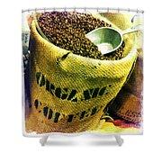 Organic Coffee Shower Curtain