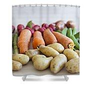 Organic Garden Vegetables Shower Curtain