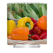 Organic Sweet Bell Peppers Shower Curtain
