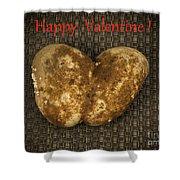 Organic Valentine Shower Curtain
