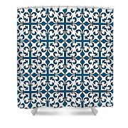 Orient Blue And White Interlude Shower Curtain