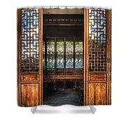 Orient - Door - The Temple Doors Shower Curtain