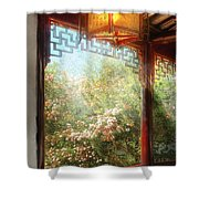 Orient - Lamp - Simply Chinese Shower Curtain