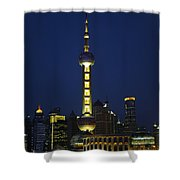 Oriental Pearl Tower, Shanghai Shower Curtain