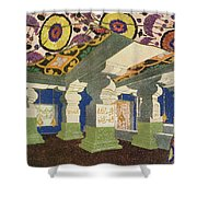 Oriental Scenery Design Shower Curtain