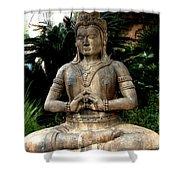 Oriental Statue Shower Curtain