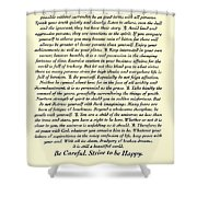 Original Desiderata Poem Shower Curtain