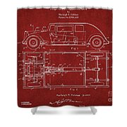 Original Harleigh Holmes Automobile Patent 1932 Shower Curtain
