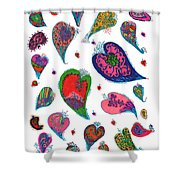 Original Hearts Shower Curtain