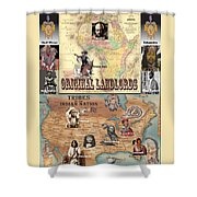 Original Landlords Poster African And Native American Shower Curtain