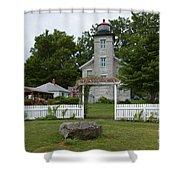 Original Lighthouse Site Shower Curtain