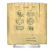 Original Patent For Lego Toy Building Brick Shower Curtain by Edward Fielding