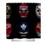 Original Six Jersey Mask Shower Curtain