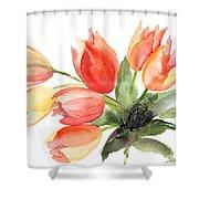 Original Tulips Flowers Shower Curtain