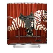 Original Zebra Carousel Ride Shower Curtain