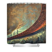 Origins Shower Curtain by Lucy West