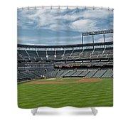 Oriole Park At Camden Yards Stadium Shower Curtain by Susan Candelario