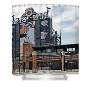 Oriole Park At Camden Yards Shower Curtain by Susan Candelario