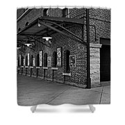 Oriole Park Box Office Bw Shower Curtain