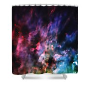 Orion Nebula Rainbow Smoke Shower Curtain