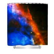 Orion Nebula Rim Shower Curtain