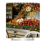 Work Hard And Be - Country Onion Cart Shower Curtain