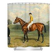 Ormonde Winner Of The 1886 Derby Shower Curtain by Emil Adam