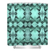 Ornamental Abstract Green Crystal Shower Curtain