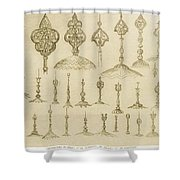 Ornamental Knobs Shaped As Domes Shower Curtain