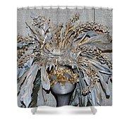 Ornamental Mask Shower Curtain