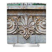 Ornamental Scrollwork Panel - Architectural Detail Shower Curtain
