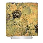 Ornamental Thistle Flower Shower Curtain