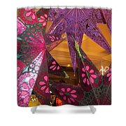 Ornamented Stars Shower Curtain