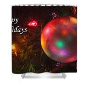 Ornaments-1942-happyholidays Shower Curtain