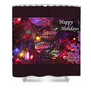 Ornaments-2038-happyholidays Shower Curtain