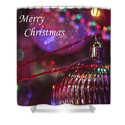 Ornaments-2052-merrychristmas Shower Curtain