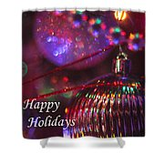 Ornaments-2054-happyholidays Shower Curtain