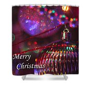Ornaments-2054-merrychristmas Shower Curtain