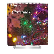Ornaments-2090-merrychristmas Shower Curtain