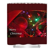 Ornaments-2107-merrychristmas Shower Curtain