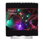 Ornaments-2130-happyholidays Shower Curtain