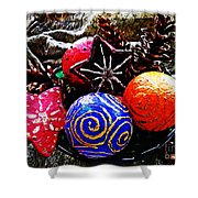 Ornaments 7 Shower Curtain by Sarah Loft