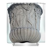 Ornaments On Urn Campo Santo Pisa  Shower Curtain