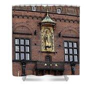 Ornate Building Artwork In Copenhagen Shower Curtain