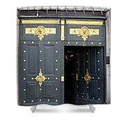 Ornate Door On Champs Elysees In Paris France Shower Curtain