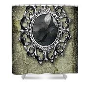 Ornate Metal Mirror Reflecting Church Shower Curtain
