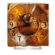 Ornate Timekeeper Shower Curtain