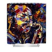 Ornette Coleman Jazz Faces Series Shower Curtain