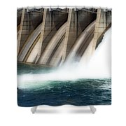Oroville Dam Unleashed Shower Curtain