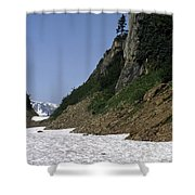 Orphaned Snow Field Shower Curtain